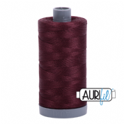 Aurifil 28 Cotton Thread - 2468 (Very Dark Brown)
